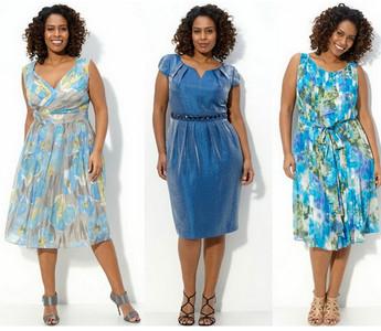 Летние платья из цветного шелка для полных